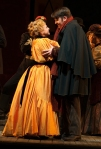 Musetta (Jennifer Zetlan) and Marcello (Keith Phares). Photo by Elise Bakketun.
