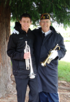 "Josiah Chupik (L) and Glenn Ledbetter (R), buglers for ""Echo Taps."" Photo by Molly Chupik"