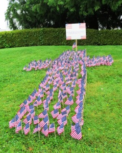 286 flags to honor the Washingtonians who died in the Irag War