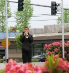 "Josiah Chupik, ""echo"" bugler, Woodinville High School senior"