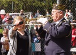 "Glenn Ledbetter, VFW Post 1040 Bugler, sounds ""To the Color"""