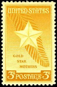 Gold Star Mothers stamp, a commemorative issue in 1948