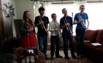 Five-Star Trumpeters--Sarah, Robert, Finn, Erik, and Vaughan