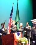 VFW Post 1040 Color Guard at Black Box Theatre on ECC campus
