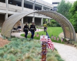 Ceremony moves from Black Box Theatre to Veterans Monument