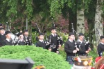 Northwest Junior Pipe Band processes to the ceremony site at Veterans Park, Lynnwood