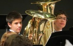 Benjamin, my first trumpet student,  switched to tuba--oh, no, how could he?!