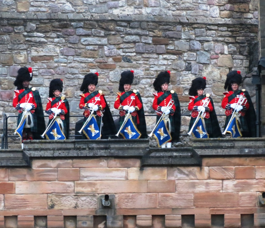 Herald trumpeters open The 2014 Royal Edinburgh Tattoo with a fanfare