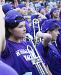 When victory comes, the hats turn backwards, according to UW tradition
