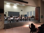 1st-year elementary band prepares for the 2014 holiday concert