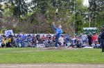 Edmonds Mayor Dave Earling throws ceremonial first pitch