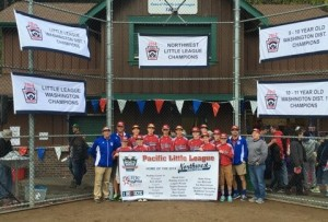 Washington District 1 and Northwest Little League Champions, comprised of Pacific Little League All-Stars, played in 2014 Little League World Series in Williamsport, Pennsylvania
