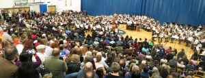 2015 NSD 6th Grade Honors Orchestra (left), Choir (center), and Band (right)