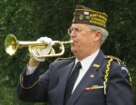 "Glenn Ledbetter sounds ""Echo Taps"" on Getzen Field Trumpet (bugle)"