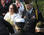 Myra Rintamaki, Gold Star Mothers, escorted by Frank Martinez, VFW Post 1040 Honor Guard Captain