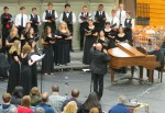 Dr. Geoffrey Boers, UW, conducts LWSD Honor Choir