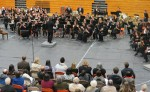 Dr. Chris Bianco, WWU, conducts LWSD Honor Band