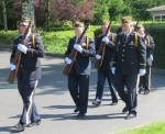 VFW Post 1040 Honor Guard, Lynnwood. Photo by Nancy MacDonald.