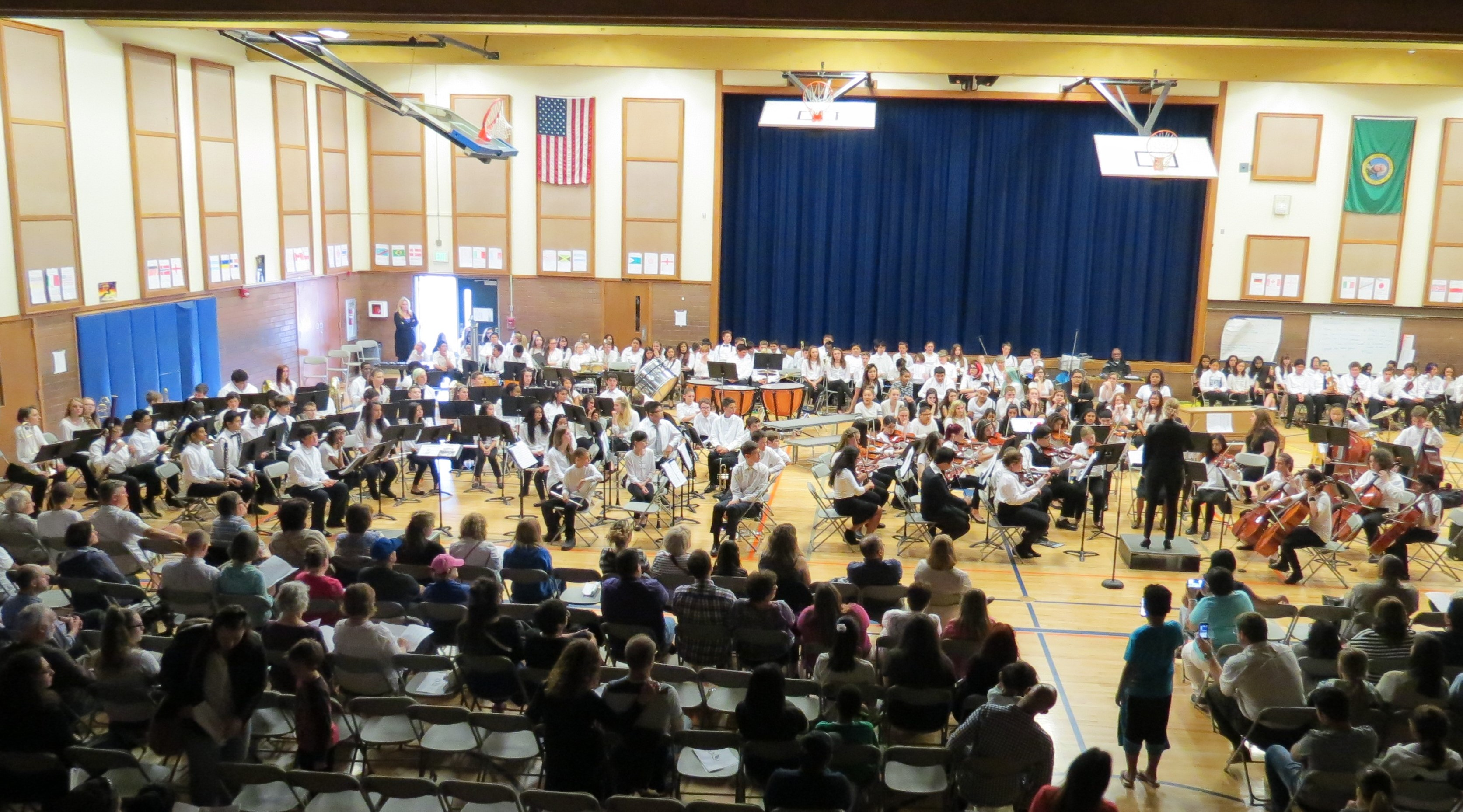 7th grade concert band l and orchestra r college place middle school lynnwood