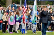 """""To the Color"" bugle call by Glenn Ledbetter,VFW Post 1040 Bugler"
