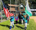 "Rehearsal of ""Retire the Colors"" by the Girl Scouts Color Guard"
