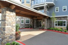 Main entrance, Chateau at Bothell Landing