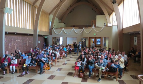 Audience applauds my 39th trumpet student after his performance