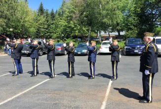 Rifle Salute, VFW Post 1040 Honor Guard. Photo by Patrick McGrady, U.S. Army Veteran.