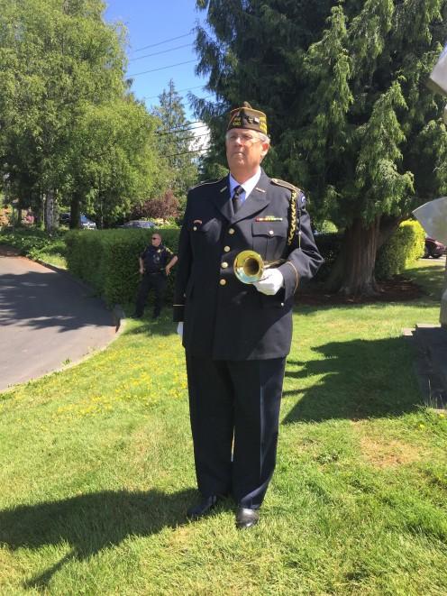 Glenn Ledbetter, VFW Post 1040 Bugler. Photo by Patrick McGrady, U.S. Army Veteran.