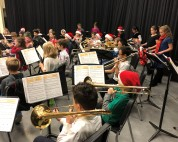 """The full band plays """"Jolly Old St. Nicholas"""""""