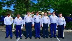 Color Guard, VFW Post 1040, at re-dedication ceremony, Apollo 11 Monument, Edmonds.