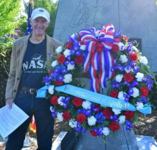 Larry Vogel, Keynote Speaker at re-dedication ceremony, Apollo 11 Monument, Edmonds.