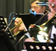 Swing musicians swing